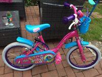 Girls small shopkins bike