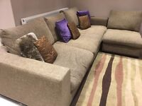 Sofa: Large good clean corner sofa., from Lee longlands. Filled with duck feathers