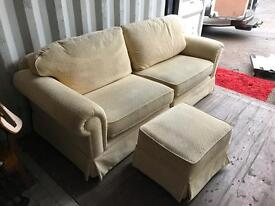 Quality Sofa & Matching Footstool