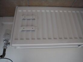 White double panel convector radiator