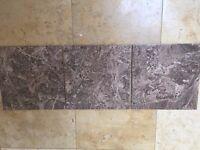 BROWN EMPARADOR MARBLE LOOK FLOOR TILES 31X31cm JOBLOT 20M2 AWESOME LOOK