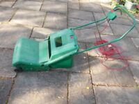 Qualcast lawn mower with grass box very good condition