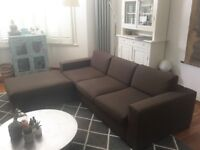 3,5 seater sofa: beautiful, great shape, very high quality, grey brown Dutch industrial design Danca