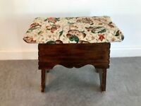 Wood and fabric foot stool
