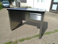 Vintage / Industrial Metal Desk Stripped & Polished Great Looking Piece Delivery Available