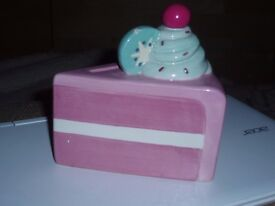 slice of cake ornament bank x2