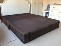 Base for bed suitable for double or king size mattress