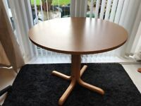 Round Beech Colour Dining or Occasional Table
