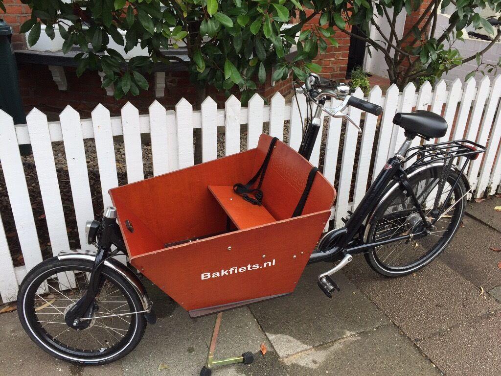 Fully Loaded Bakfiets Dutch Cargo Box Family Bike Shimano Nexus 8