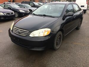 2003 Toyota Corolla EXPERTS SPECIAL,TRUE KM UNKNOWN,AS IS,$1650.