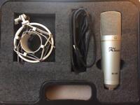 USB Studio Condenser Microphone t.bone SC 440 with pop filter
