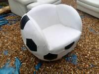 Football swivel leather armchair