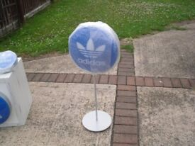 ADIDAS ORIGINALS SIGN ON A STAND DOUBLE SIDED NEW STYLE brand new in box