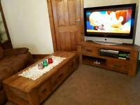 Tv units and coffee table