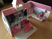 ELC Rosebud school toy dolls house, boxed and complete