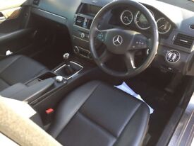 57 PLATE MERCEDES BENZ C220 CDI SILVER MANUAL DIESEL FOR SALE