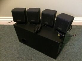 Cambridge Soundworks surround sound speakers and sub
