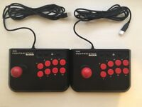 2x HORI FIGHTING STICK Mini 3 Arcade Fight Stick for Sony Playstation 3 PS3 and PC