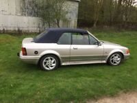 XR3I convertible 12 months MOT excellent condition inside and out