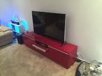 Pristine condition. Fully assembled. Limited edition red IKEA BESTÅ BURS High-gloss RED TV Bench