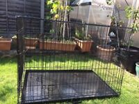 LARGE DOG CAGE FOLDS FLAT IF REQUIRED LOCKABLE FRONT ENTRY AS NEW £30