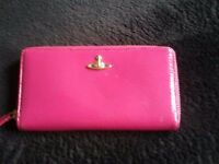 Vivienne Westwood pink patent leather purse.