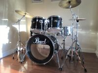 Complete Pearl Export Drum Kit - Cymbals Hardware, Remo Heads