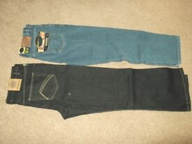 2 pairs good quality mens jeans (brand new)