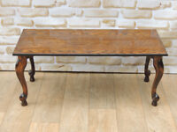Oak polished strong coffee table (Delivery)