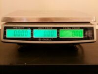 Commercial counter-top food-safe scales