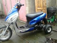 2008 moped 3 wheeler can be changed back to 2 wheeler £150
