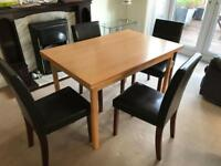IMS Italia Comforting living Extending Dining Table + 4 Chairs