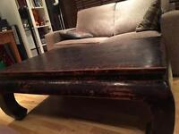 Antique opium coffee table