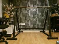 Heavy Duty Squat Rack Domyos Training Home Body Workout Freeweight Squats
