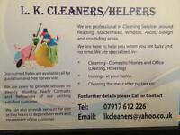 Domestic cleaner with discounted offers