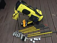 Golf Clubs and bag for Kids, approx age 7-10 yrs. Dunlop Clubs, putter, balls etc