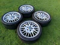 "18"" Genuine BMW msport alloy wheels and tyres 5x120"