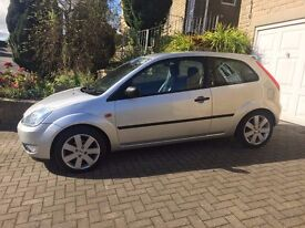 ford fiesta 1.4 limited edition ghia silver full leather 2004 genuine 64000 totally mint must see.