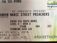 1 x Standing ticket for Manic Street Preachers