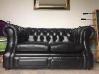Chesterfield sofa 2 seater black