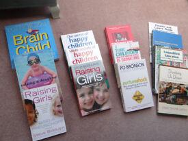 Selection of Parenting & childcare books - Steve Biddulph, Tony Buzan ....