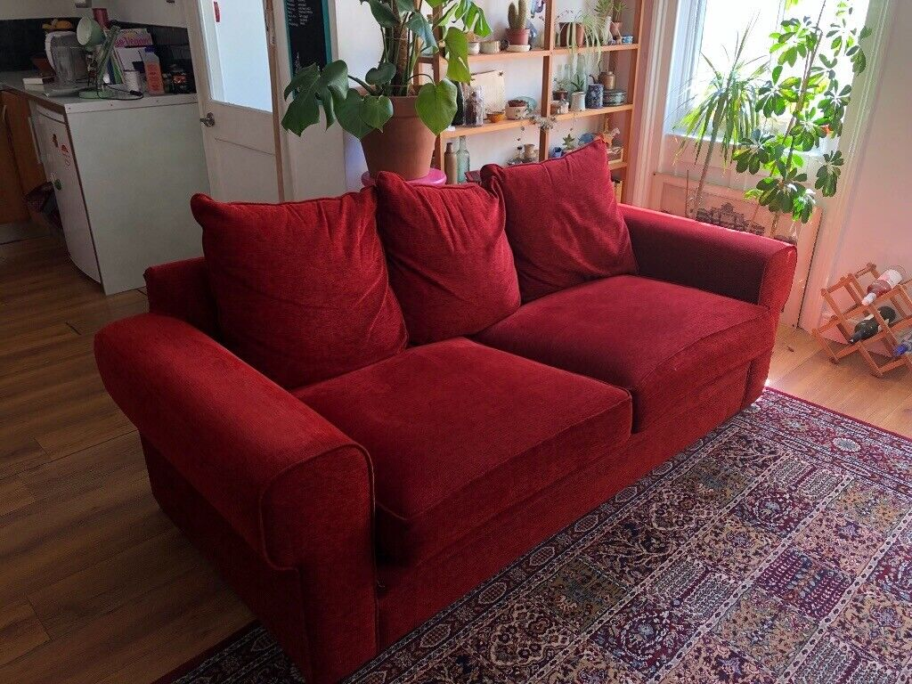 Cool Big Two Seater Red Sofa Sits 3 In Brighton East Sussex Gumtree Pabps2019 Chair Design Images Pabps2019Com