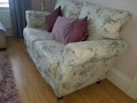 Brand new and unused large sofa and chair. Made to order