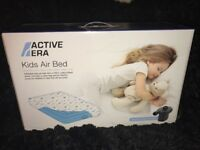 NEW Kids Childrens Air Bed With Electric Pump, Carry Case and 100% Cotton Sheet included