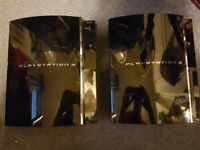 2 X FAT PS3 CONSOLES (SPARES OR REPAIR)