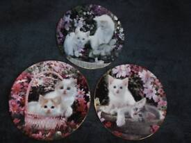 DECORATIVE PLATES WITH CATS & KITTENS
