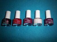 5 x New M&S Nail Polish IP1