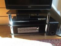 Black glass chrome TV Stand £15 ono