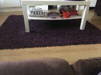 Deep purple short pile rug
