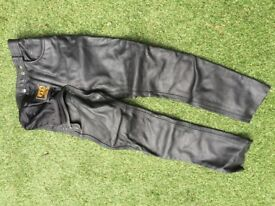 JTS Ladies Leather Motorcycle Trousers